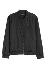 Nylon-blend bomber jacket - Black - Men | H&M CN 2